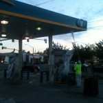 Commercial Painting - Gas Station - San Leandro - Chevron 1
