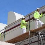 Commercial Painting - Hospital Ext chalking - Fairfield CA - Travis AFB