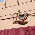 Commercial Painting - Hospital man lift - Fairfield CA - Travis AFB