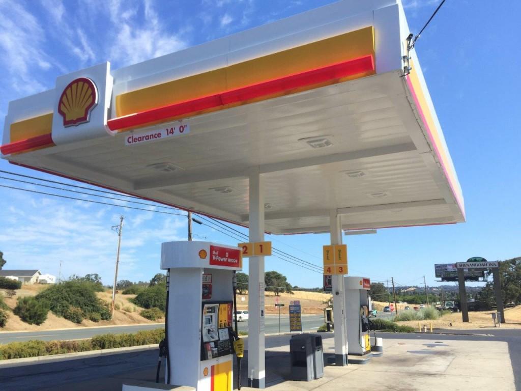Gas Station u2013 San Leandro u2013 Chevron 2 & Gas Station Commercial Painting - Blackhawk Painting Inc.